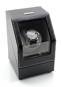 [ON SALE NOW] Heiden Battery Powered Single Watch Winder in Black Leather