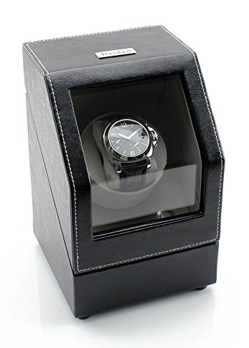 [SALE] Heiden Battery Powered Single Watch Winder in Black Leather