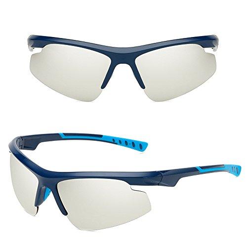 no exteriores para antideslumbrantes Plata Marco Gafas de hombres sol para de UV400 Gafas Azul Gafas profesionales polarizadas sol Lente Gafas Dintang ligeras q6zTXqx