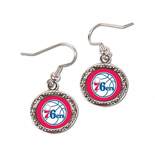 Wincrafts NBA Philadelphia 76ers Carded Round Jewelled Earrings by Wincrafts