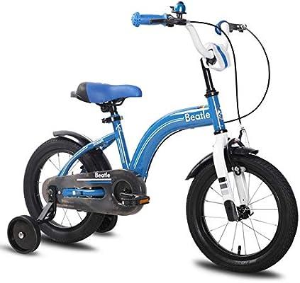 XiangYu Bicicleta para Niños, Material de Aleación de Magnesio, Sistema de Freno de Disco Doble, Manillar y Silla de Montar Ajustables + Rueda Auxiliar Antideslizante Blue-12inch: Amazon.es: Deportes y aire libre