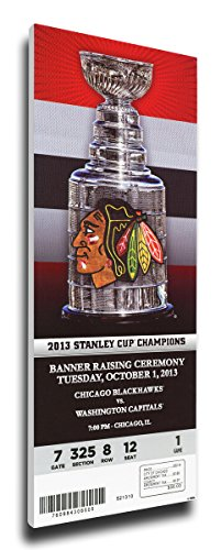 That's My Ticket Chicago Blackhawks 2013 Stanley Cup Champions Banner Raising Mega Ticket Wall Decor