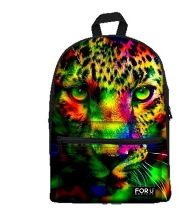 LightningStore Cute Children Rainbow Jaguar Leopard Cheetah School Bags Kindergarten Girls Boys Kid Backpack Cartoon Toys
