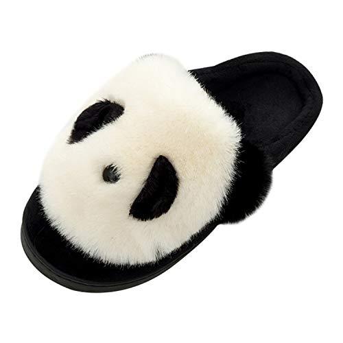 QZBAOSHU Slippers for Women Winter Comfort Memory Foam Panda Slippers Indoor 6/6.5 US Women (Label Size 38/39) White