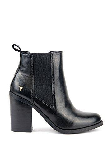 Windsor Smith - Botas de Piel para mujer negro negro negro