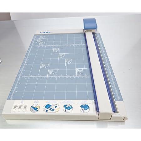 Pack Metal Base Carl 12200 Bidex Professional 10-Sheet Rotary Trimmer 2- 12 x 11