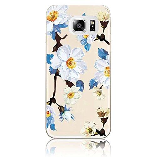 Case Cover Caso para Samsung Galaxy S7 Edge 5.5 Sunroyal® Funda Carcasa Premium TPU Soft Suave Ultra Slim Delgado Cubierta Parachoques Estuche Caja Shell Protectora Bumper Transparente con el Enchufe Modelo2
