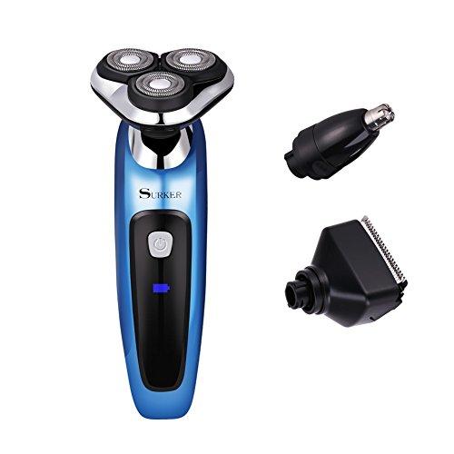 3 in1 Elektrischer Rasierer Nass-und Trockenrasierer Wasserdicht Rasierapparat