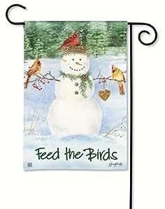 Bandera de Jardín BreezeArt de muñeco de nieve de girasol jardín Bandera 31374