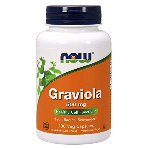 NOW Graviola 500mg Capsules Pack product image