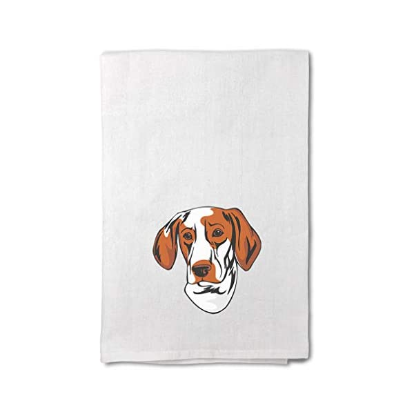 Style In Print Custom Decor Flour Kitchen Towels Ariege Pointer Head Pets Dogs Cleaning Supplies Dish Towels Design Only 1