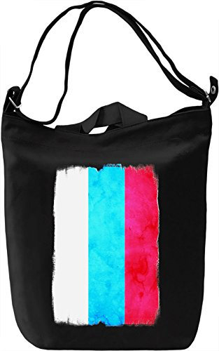 Russia Flag Borsa Giornaliera Canvas Canvas Day Bag| 100% Premium Cotton Canvas| DTG Printing|