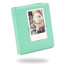 Katia Photo Album for Fujifilm Instax Mini 9, Instax Mini 8 Instant Camera, Polaroid Snap, HP sprocket - 64 Pockets, Green