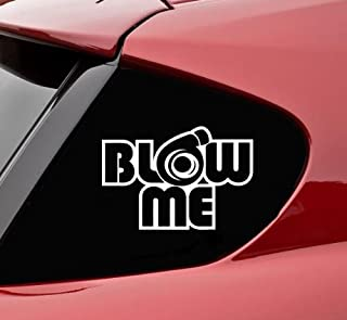 product image for Turbo Blow Me Funny Decal   White   6 X 4 In
