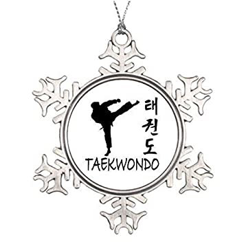 wonbye Christmas Ornaments 2018, Taekwondo Snowflake Ornament Designs Metal  Snowflake Tree Decoration, Friends - Amazon.com: Wonbye Christmas Ornaments 2018, Taekwondo Snowflake