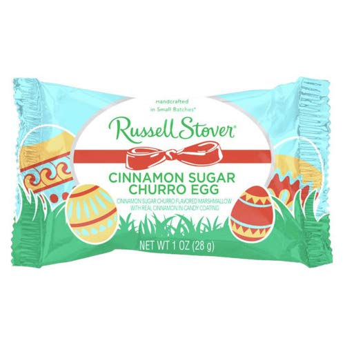 Russell Stover Easter - Russell Stover (1) Cinnamon Sugar Churro Egg Marshmallow Candy Easter Candy Bar Net Wt. 1 oz
