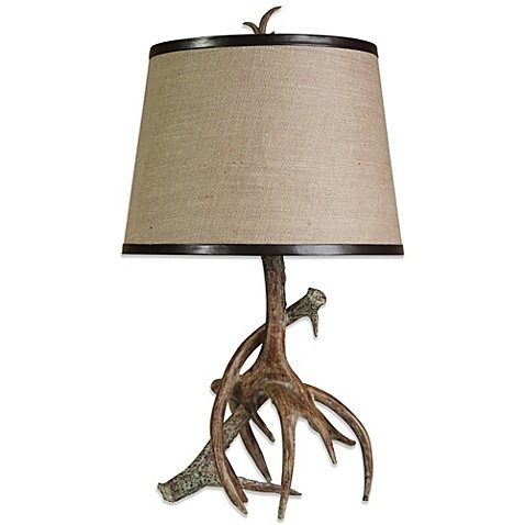 Dalton Antler Table Lamp | Designed with a Stacked Faux Afntler ()