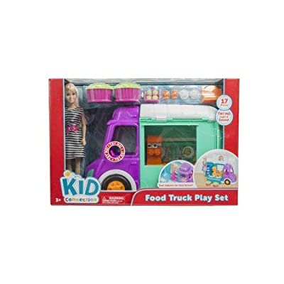 Kidconnect Food Truck Play Set with Fashion Doll, Lights and Sounds: Toys & Games