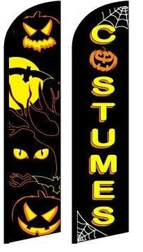 Halloween Eyes costumea King Windless Flag- Pack of 2(Hardware not Included-FI) ()