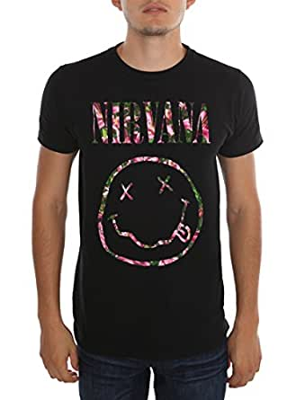 Nirvana Floral Smiley T-Shirt