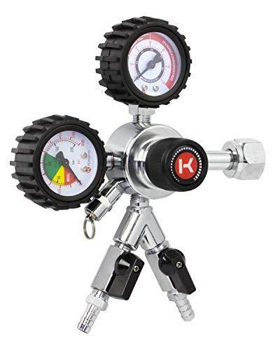 Kegco HL-62-2 Premium Commercial Grade Dual Gauge Two Product CO2 Draft Beer Regulator