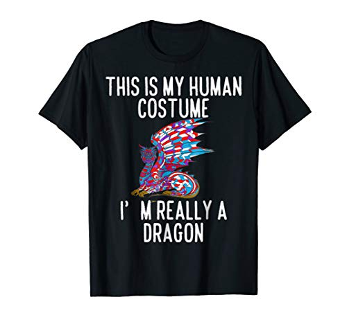 Funny Dragon Lovers T-Shirt - This is My Human Costume -