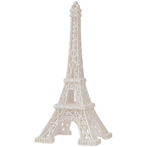 RAZ Imports - 6 Inch Eiffel Tower Figurine Christmas Tree Ornament (Silver) (Eiffel Ornament Christmas Tree Tower)
