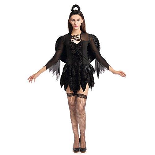 Slocyclub Women Dark Fallen Angel Dresses Party Costume