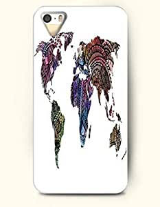 iPhone 5 5S Hard Case (iPhone 5C Excluded) **NEW** Case with Design Aztec Pattern World Map- ECO-Friendly Packaging...