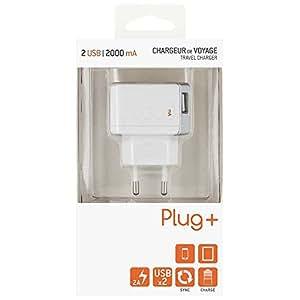 Bigben BC329742 USB-Home-adaptador en colour blanco