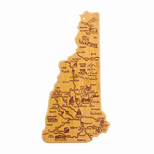 Totally Bamboo New Hampshire State Destination Bamboo Serving and Cutting Board