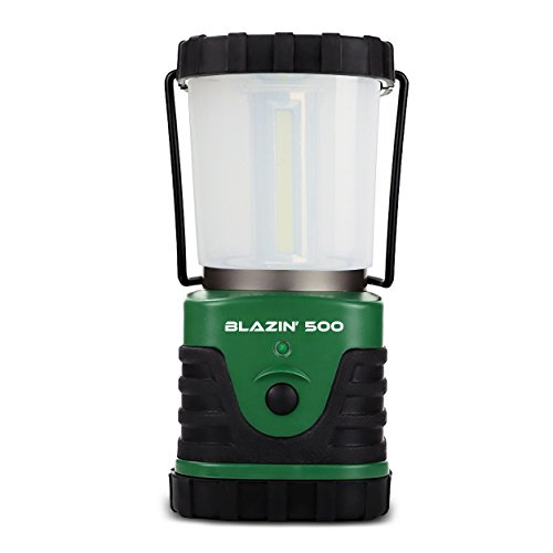 Brightest LED Camping & Hurricane Lantern - Battery Operated - 500 Lumen - Runs Up to Six DaysContinuously -