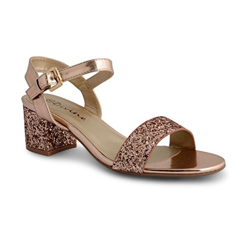 Gold sandalias mujer Footwear Glitter Rose Sensation xwfFzwqYP