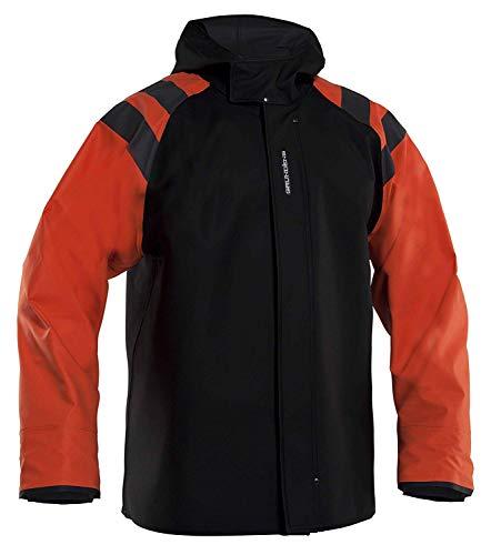Grundéns Men's Balder Hooded Fishing Jacket, Orange - Medium