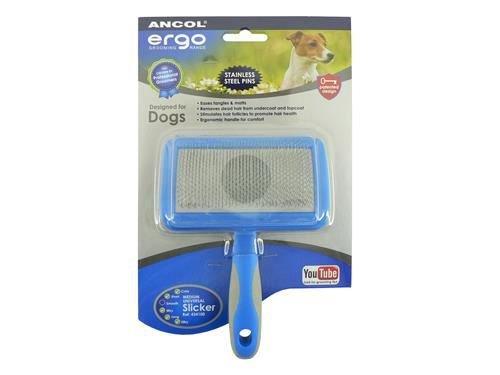 (3 Pack) Ancol Ergo Universal Slicker Brush Medium