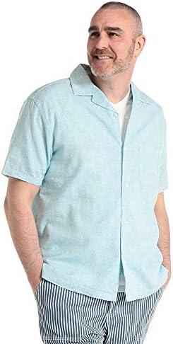 サカゼン B&T CLUB 大きいサイズ メンズ 綿麻 無地 ポケット オープンカラー 半袖 シャツ