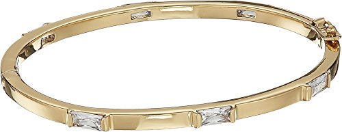 Vince Camuto Women's Magnetic Hinge Stone Bangle Gold/Crystal One Size ()