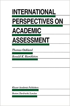 Book International Perspectives on Academic Assessment Evaluation in Education and Human Services