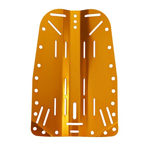 Scuba Choice Tech Diving Aluminum Backplate, Gold
