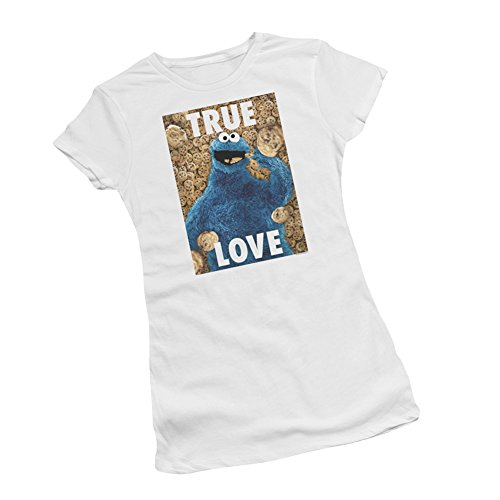 True Love -- Cookie Monster -- Sesame Street Juniors T-Shirt, X-Large - True Love Juniors T-shirt