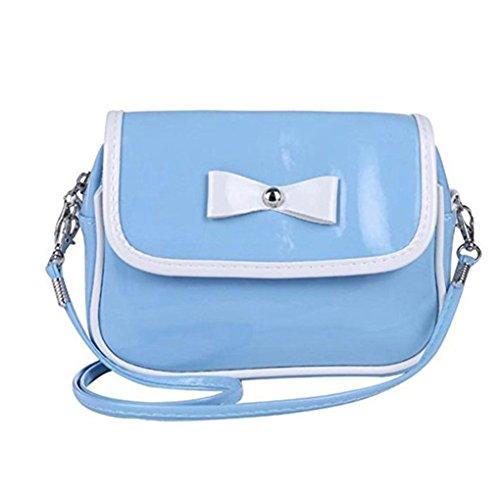 Satchel Shoulder Handbag Fashion Crossbody Gemini Girls Women mall® Leather Tote Mini Bag PU Blue Messenger HqIU7