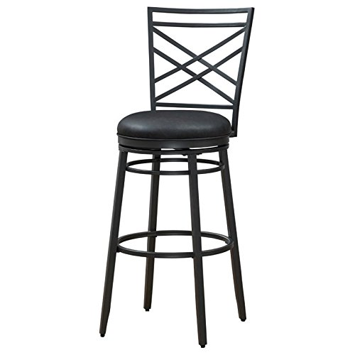 Charcoal Height (American Heritage Billiards 130196 Alyssa Bar Height Stool, Charcoal)