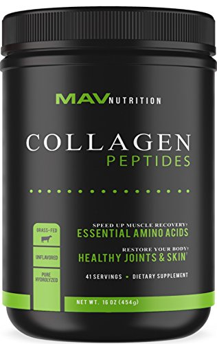 Premium Collagen Peptides (16oz) | Pasture - Raised, Grass - Fed, Paleo Friendly + 100% All Natural + Non - GMO & Gluten Free + Pure Hydrolyzed + Unflavored Collagen Powder