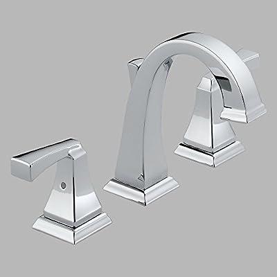 Delta Dryden 3551LF Double Handle Widespread Bathroom Sink Faucet