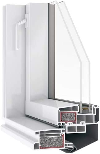 AFG Schweiz Skylight Kunststoff Dachfenster PVC 66 x 118 cm mit Eindeckrahmen Schwingfenster Dachfl/ächenfenster