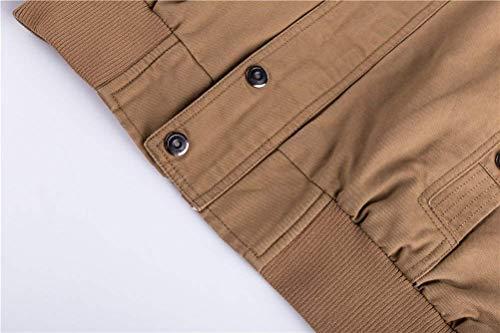 Lavato Casual Nappa Classica Autunno Schwarz Giacche Uomo Cotone Tasche In Battercake 3 Multi Da Comodo C1UWw