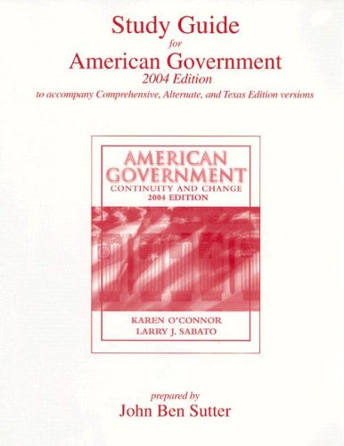 Study Guide for American Government: Continuity and Change