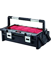 Keter 17185073 assortiment doos Master Pro Serie Cantilever 22 inch, kunststof, rood/zilver