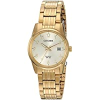 Citizen Women's Quartz Stainless Steel Casual Watch, Color:Gold-Toned (Model: EU6002-51Q)