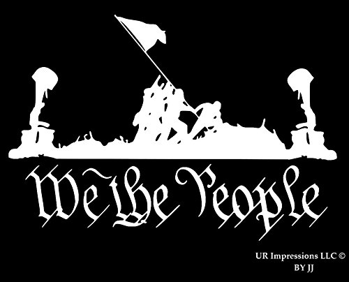 Battlefield of the Brave - We The People Decal Vinyl Sticker|Cars Trucks Walls Laptop Tablet|WHITE|6.5 X 4.4 In|JJURI061